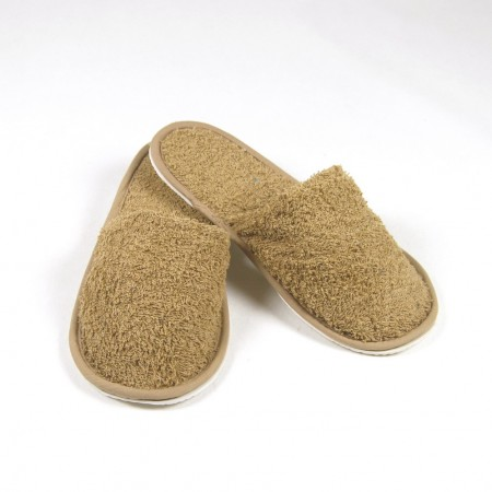 Zapatillas beige de rizo algodón 100%