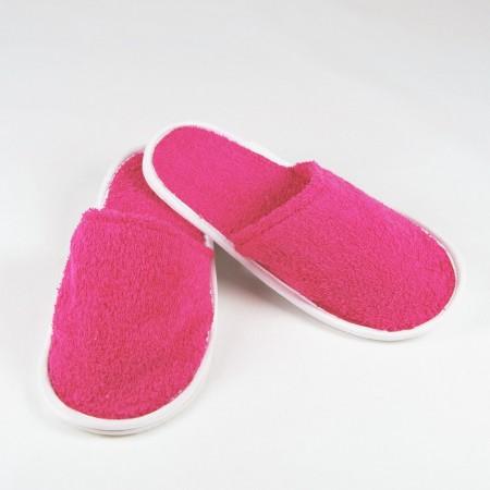 Zapatillas de rizo color fucsia algodón 100%
