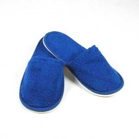 Zapatillas de rizo color azul naútico algodón 100%
