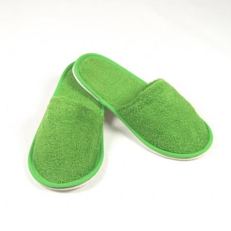 Zapatillas de rizo color verde algodón 100%