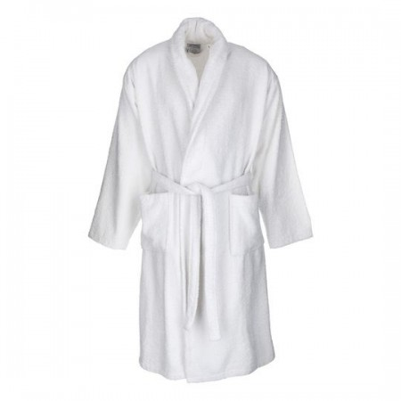 White adult bathrobe made from 100% cotton