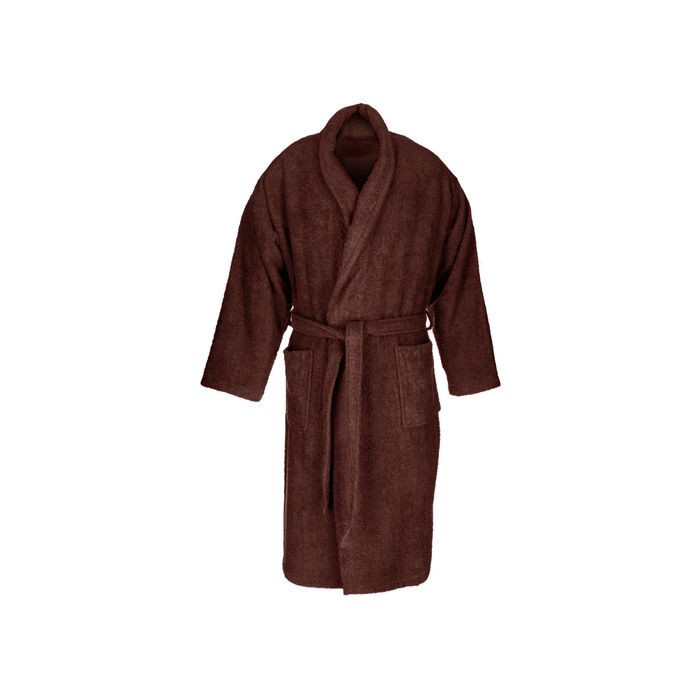 Chocolate adult terry bathrobe made from 100% cotton