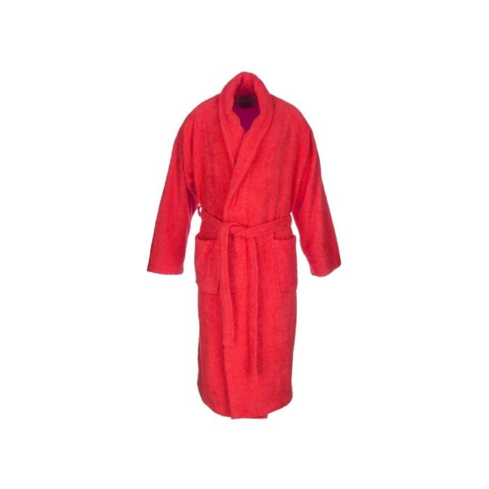 Red adult bathrobe made from 100% cotton