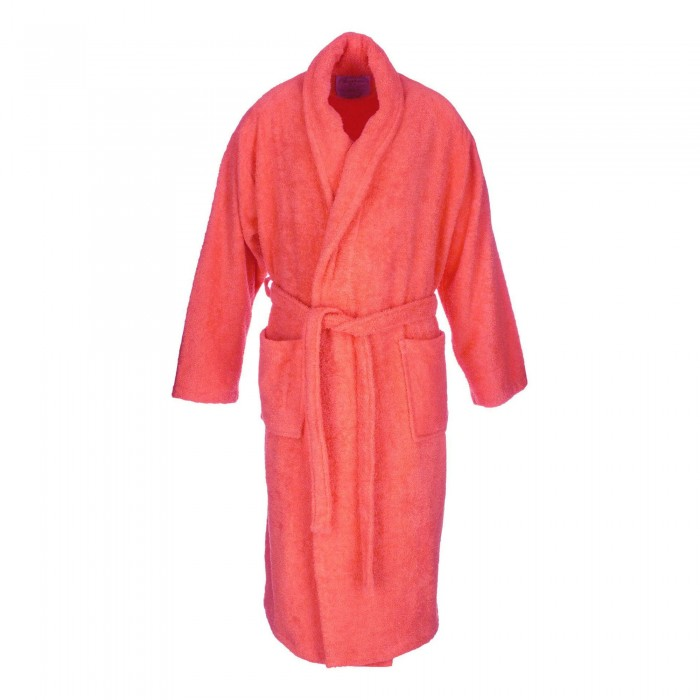 Coral adult bathrobe made from 100% cotton
