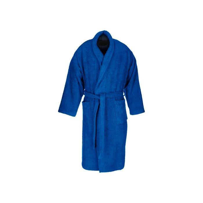 Dark blue adult bathrobe made from 100% cotton
