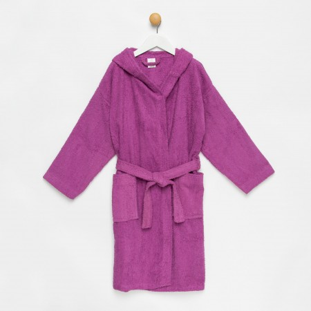 Purple Children Hooded Bathrobe made from 100% cotton