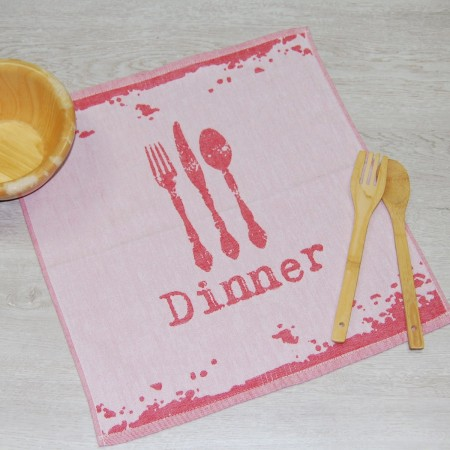 Red kitchen towel made from 100% cotton