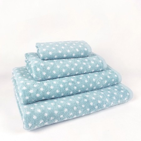 Blue nile Bath Towel design Dots made from 100% cotton