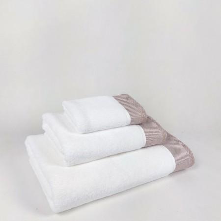 Juego de toallas beige Eternity de algodón 100%