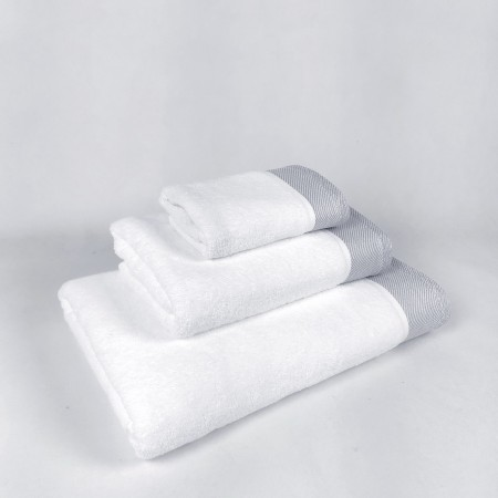 Juego de toallas gris Eternity de algodón 100%