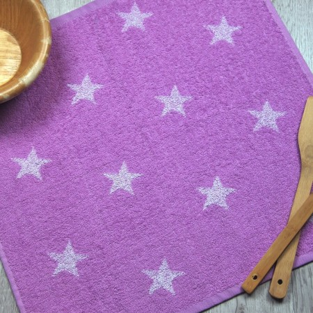 Lilac terry kitchen towel from 100% cotton