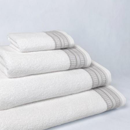 Toalla de baño crema Rachel de algodón 100%