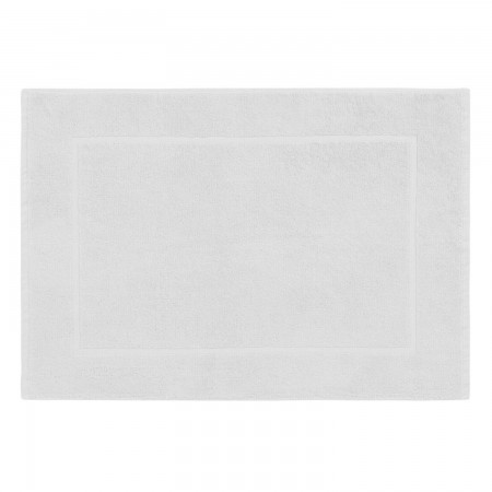 White bath mat made from 100% cotton
