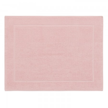 Pink bath mat made from 100% cotton