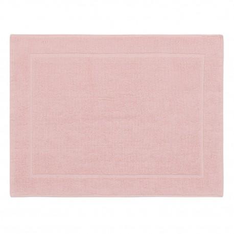 Tapis de bain rose uni 100% coton