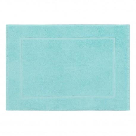 Aqua blue bath mat made from 100% cotton