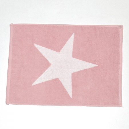 Alfombra de baño rosa Star de algodón 100%