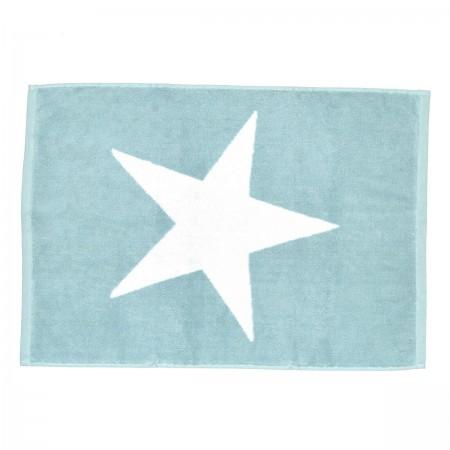 Alfombra de azul nilo Star de algodón 100%