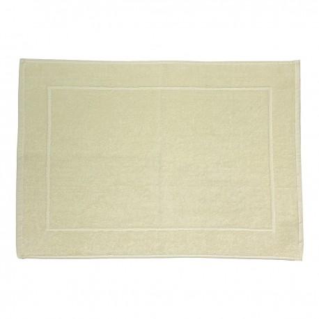 Cream bath mat made from 100% cotton