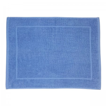 Sea blue bath mat made from 100% cotton