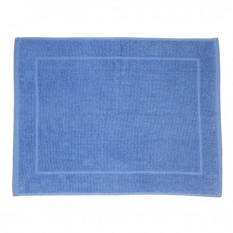 Sea blue bath mat made from 100% cotton