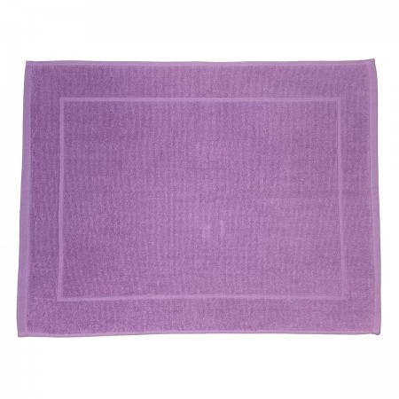 Lilac bath mat made from 100% cotton