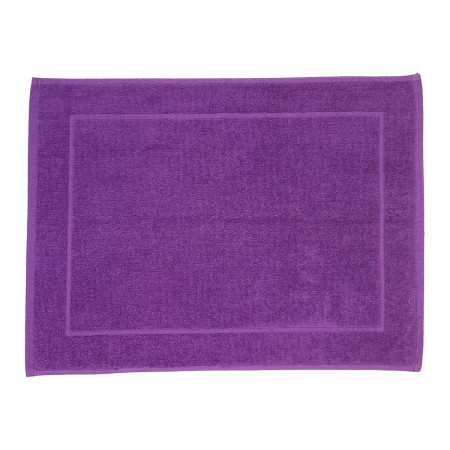 Purple bath mat made from 100% cotton
