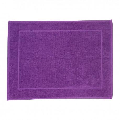 Purple bath mat made from 100% cotton