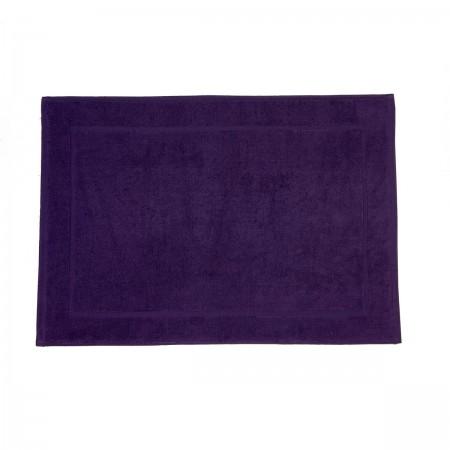 Aubergine bath mat made from 100% cotton