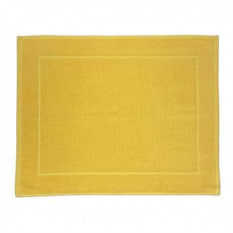 Yellow bath mat made from 100% cotton
