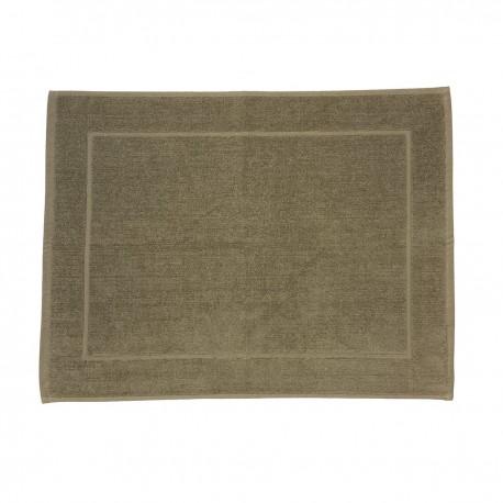 Beige bath mat made from 100% cotton