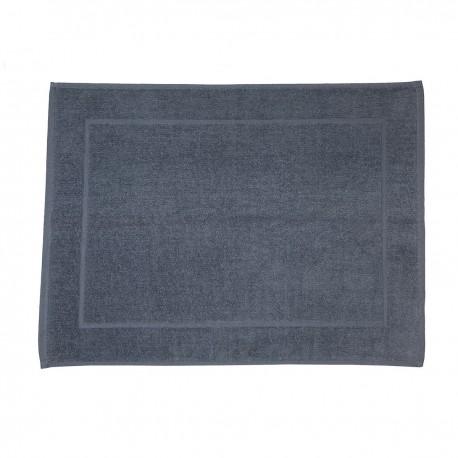 Alfombra de baño gris antracita lisa de algodón 100%