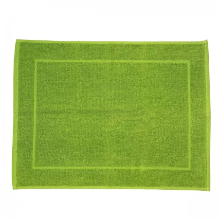 Green Pistachio bath mat made from 100% cotton
