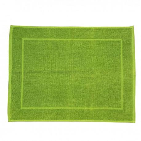 Tapis de bain vert pistache uni 100% coton