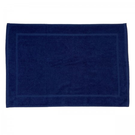 Navy Blue bath mat made from 100% cotton