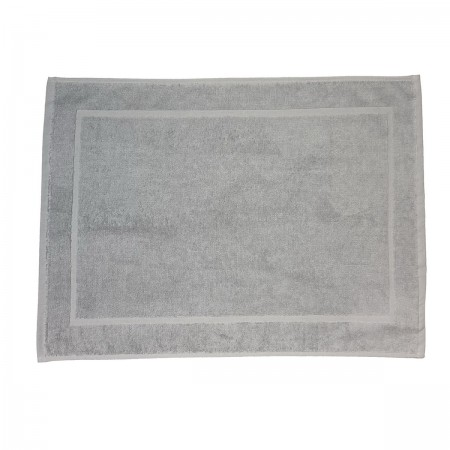 Silver Grey bath mat made from 100% cotton