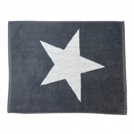 Dark Grey bath mat Star made from 100% cotton