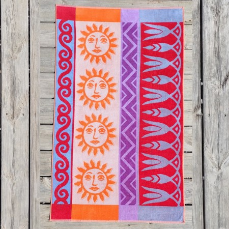 Velour beach towel from 100% cotton