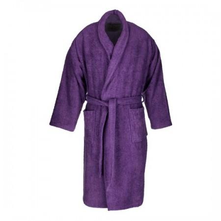 Aubergine adult bathrobe made from 100% cotton