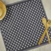 Dark grey kitchen towel made from 100% cotton