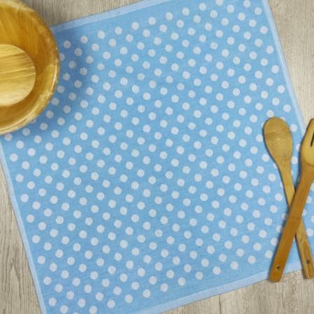 Torchon de cuisine bleu turquoise en tissu 100 % coton