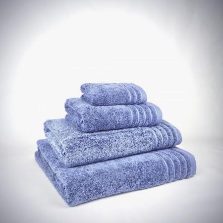 Toalla de baño azul Denim con efecto Stone de algodón 100%