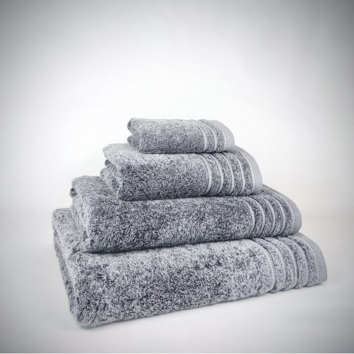Toalla de baño gris Denim con efecto Stone de algodón 100%