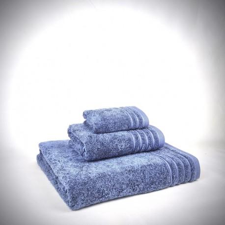 Juego de toallas azul Denim de algodón 100%