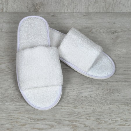 White terry slippers from 100% cotton