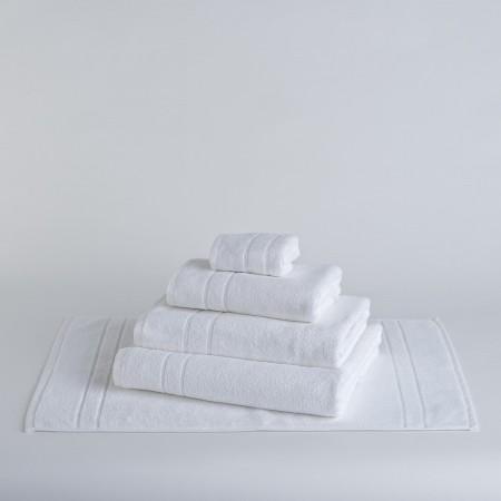 Toalla de baño blanca lisa de hostelería de algodón 100%
