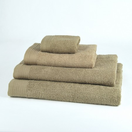 Beige Bath Towel made from 100% cotton