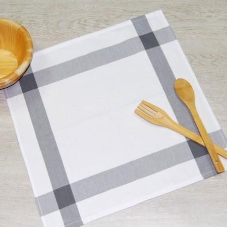 Torchon de cuisine gris anthracite en tissu 100% coton