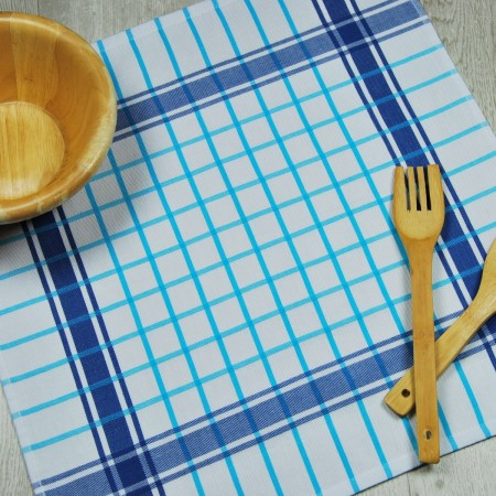 Blue kitchen towel made from 100% cotton