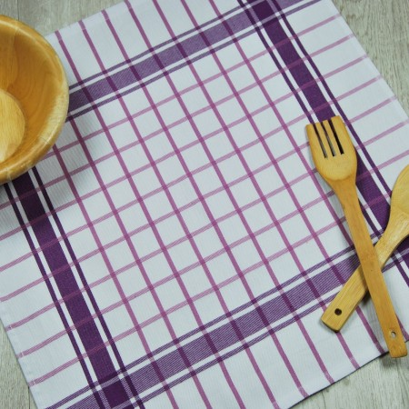 Lilac kitchen towel made from 100% cotton